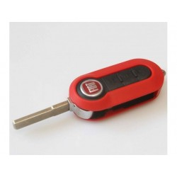 Fiat 3 Button Modified Flip Remote Key Shell (Red Colour) - Replacement Key Cases from www.keycasereplace.co.uk