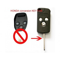 Honda 3 Button Modified Folding Key Blank - Replacement Key Cases from www.keycasereplace.co.uk