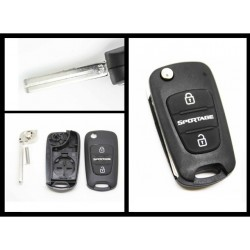 Kia Sportage 3 Button Flip Key Shell - Replacement Key Cases from www.keycasereplace.co.uk