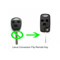 Lexus 3 Button Flip Modified Remote Key Shell - Replacement Key Cases from www.keycasereplace.co.uk
