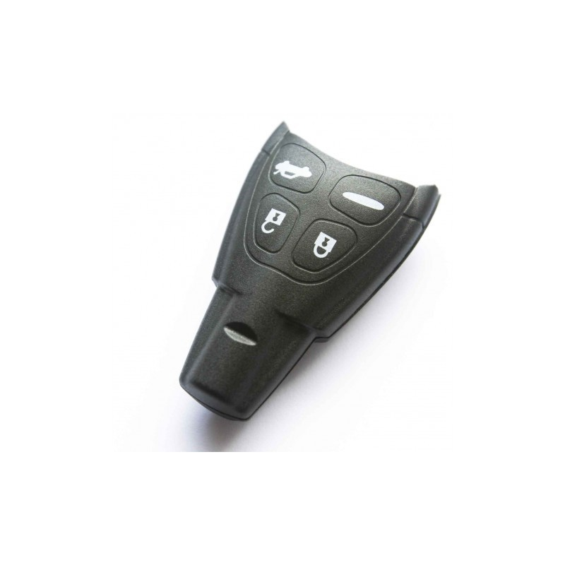 Saab Four Button Smart Key Shell - Replacement Key Cases from www.keycasereplace.co.uk