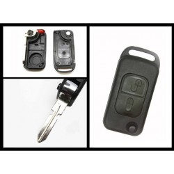 Mercedes Benz 2 Button Flip Key Shell 4 Track - Replacement Key Cases from www.keycasereplace.co.uk