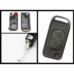 Mercedes Benz 2 Button Flip Key Shell 2 Track - Replacement Key Cases from www.keycasereplace.co.uk