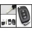 Hyundai 3 Button Flip Remote Key Shell