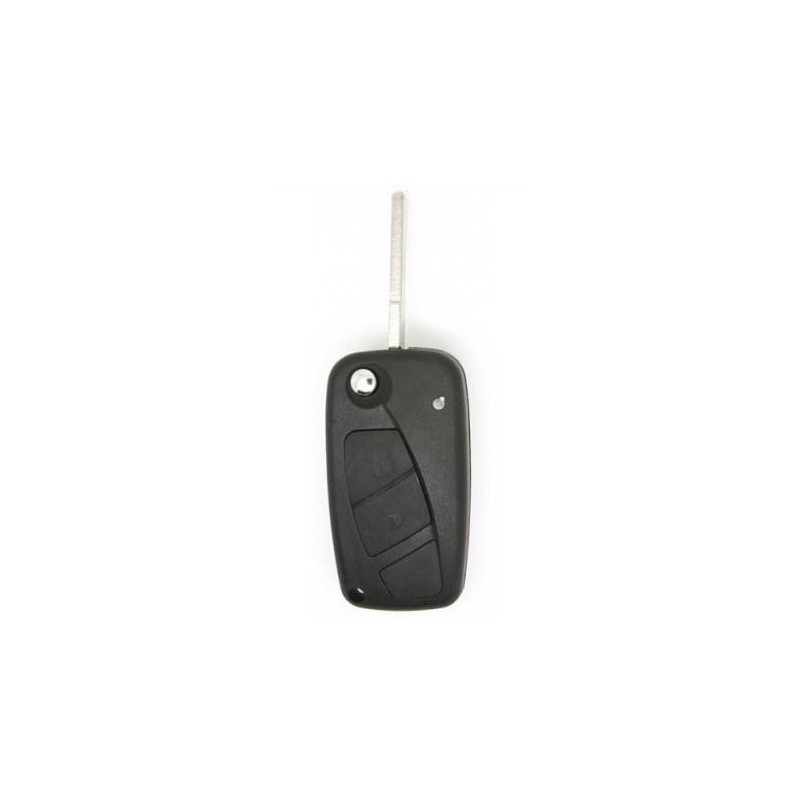Fiat 3 Button Remote Key Shell (Black)