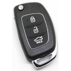 Hyundai 3 Button Flip Remote Key Shell