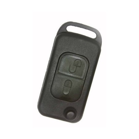 Mercedes Benz 2 Button Flip Key Shell 2 Track