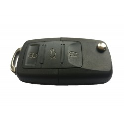 Volkswagen 3 Button Key Shell With No KeyBlade