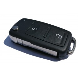 Volkswagen 2 Button Flip Key Case
