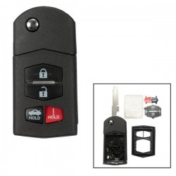 Mazda 4 Button Flip Key Case