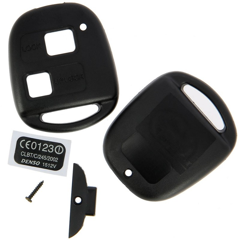 Toyota 2 Button Remote Key Fob Case With No Key Blade - Replacement Key Cases from www.keycasereplace.co.uk