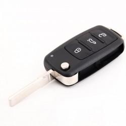 VW 3 button flip key shell