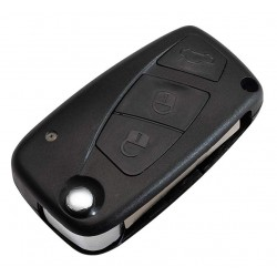 Fiat 3 Button Remote Key Shell (Black)